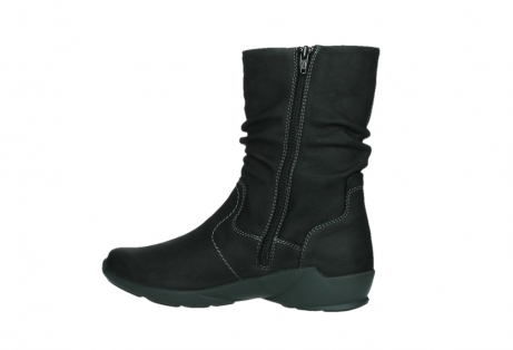 wolky mid calf boots 01573 luna wp 11002 black nubuck water proof warm lining_14