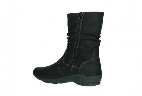 wolky mid calf boots 01573 luna wp 11002 black nubuck water proof warm lining_15