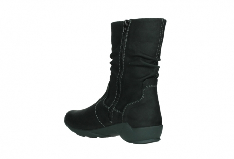 wolky mid calf boots 01573 luna wp 11002 black nubuck water proof warm lining_16