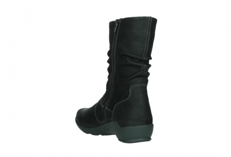 wolky mid calf boots 01573 luna wp 11002 black nubuck water proof warm lining_17
