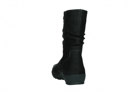 wolky mid calf boots 01573 luna wp 11002 black nubuck water proof warm lining_18