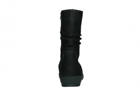 wolky mid calf boots 01573 luna wp 11002 black nubuck water proof warm lining_19