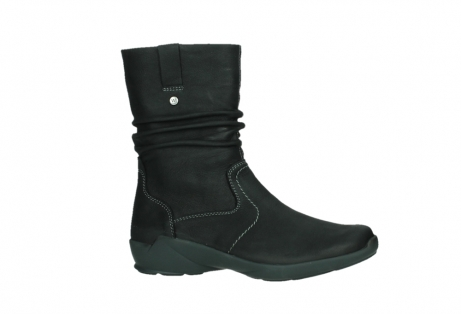 wolky mid calf boots 01573 luna wp 11002 black nubuck water proof warm lining_2