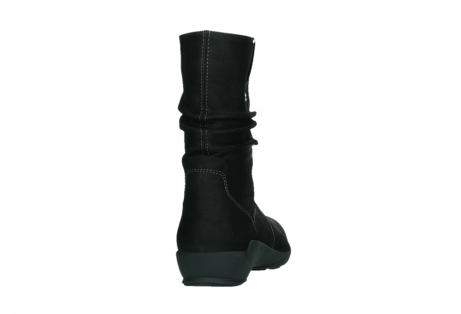 wolky mid calf boots 01573 luna wp 11002 black nubuck water proof warm lining_20
