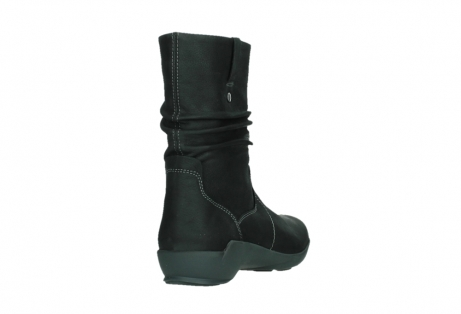wolky mid calf boots 01573 luna wp 11002 black nubuck water proof warm lining_21