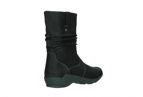 wolky mid calf boots 01573 luna wp 11002 black nubuck water proof warm lining_22