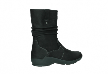wolky mid calf boots 01573 luna wp 11002 black nubuck water proof warm lining_23