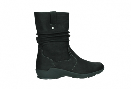 wolky mid calf boots 01573 luna wp 11002 black nubuck water proof warm lining_24