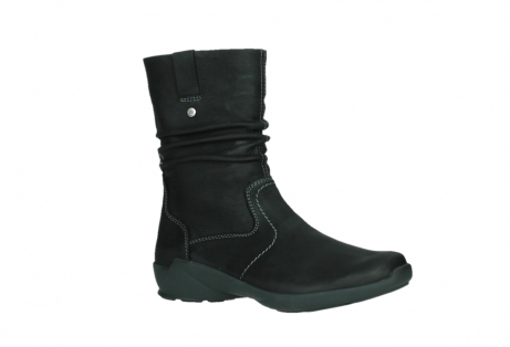 wolky mid calf boots 01573 luna wp 11002 black nubuck water proof warm lining_3