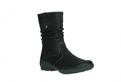 wolky mid calf boots 01573 luna wp 11002 black nubuck water proof warm lining_4
