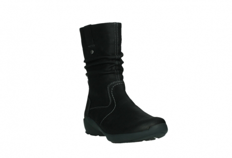 wolky mid calf boots 01573 luna wp 11002 black nubuck water proof warm lining_5