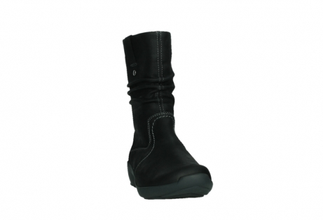 wolky mid calf boots 01573 luna wp 11002 black nubuck water proof warm lining_6