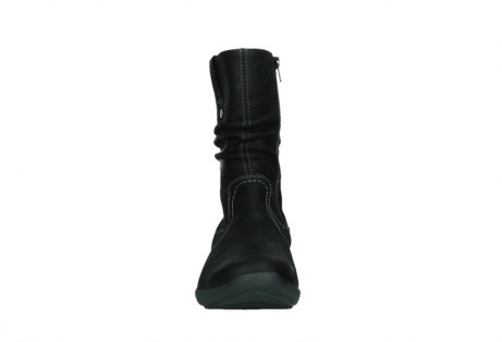 wolky mid calf boots 01573 luna wp 11002 black nubuck water proof warm lining_7