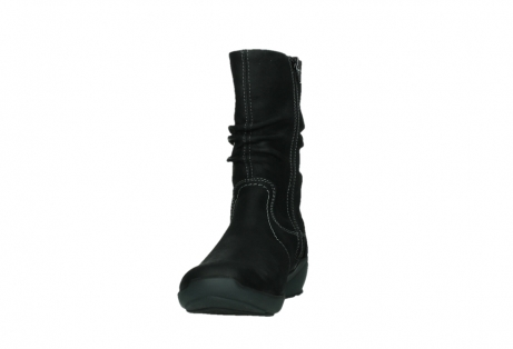 wolky mid calf boots 01573 luna wp 11002 black nubuck water proof warm lining_8
