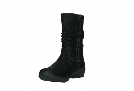 wolky mid calf boots 01573 luna wp 11002 black nubuck water proof warm lining_9