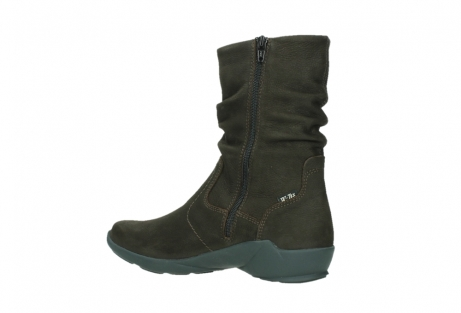 wolky mid calf boots 01573 luna wp 11302 brown nubuck water proof warm lining_15