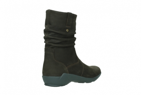 wolky mid calf boots 01573 luna wp 11302 brown nubuck water proof warm lining_22