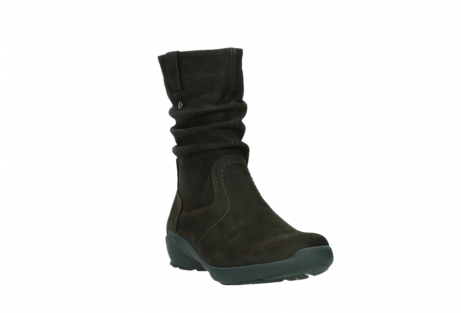 wolky mid calf boots 01573 luna wp 11302 brown nubuck water proof warm lining_5