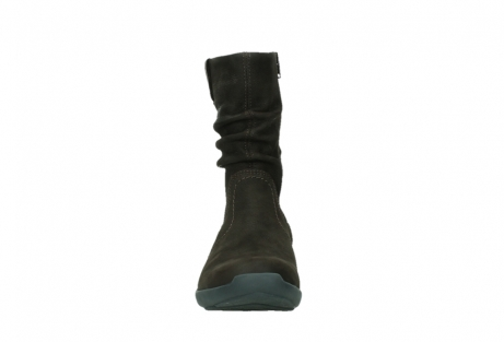 wolky mid calf boots 01573 luna wp 11302 brown nubuck water proof warm lining_7