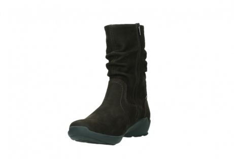 wolky mid calf boots 01573 luna wp 11302 brown nubuck water proof warm lining_9