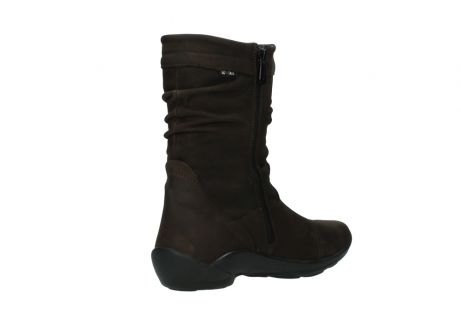 wolky mid calf boots 01678 jacky wp 50300 brown oiled leather water proof warm lining_10