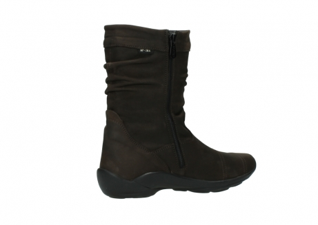 wolky mid calf boots 01678 jacky wp 50300 brown oiled leather water proof warm lining_11