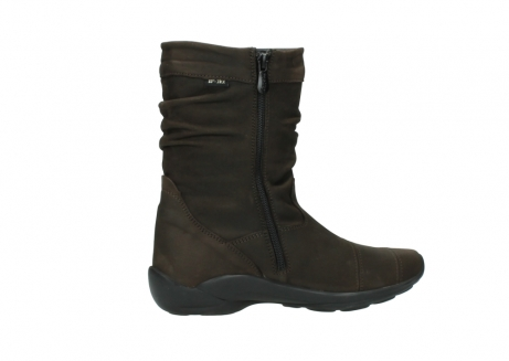 wolky mid calf boots 01678 jacky wp 50300 brown oiled leather water proof warm lining_12
