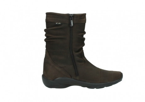 wolky mid calf boots 01678 jacky wp 50300 brown oiled leather water proof warm lining_13