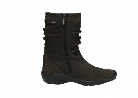 wolky mid calf boots 01678 jacky wp 50300 brown oiled leather water proof warm lining_14