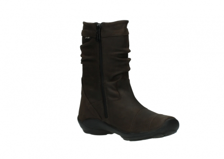 wolky mid calf boots 01678 jacky wp 50300 brown oiled leather water proof warm lining_16