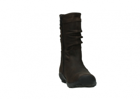 wolky mid calf boots 01678 jacky wp 50300 brown oiled leather water proof warm lining_18