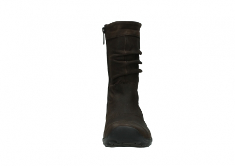 wolky mid calf boots 01678 jacky wp 50300 brown oiled leather water proof warm lining_19