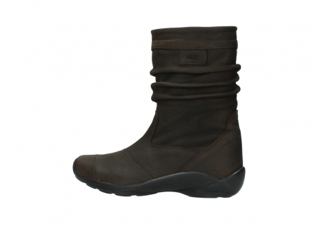 wolky mid calf boots 01678 jacky wp 50300 brown oiled leather water proof warm lining_2
