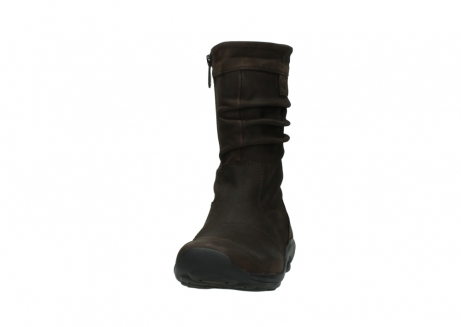 wolky mid calf boots 01678 jacky wp 50300 brown oiled leather water proof warm lining_20