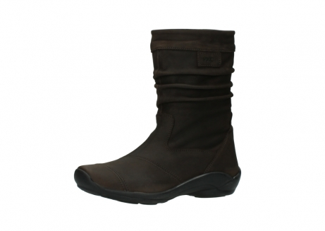 wolky mid calf boots 01678 jacky wp 50300 brown oiled leather water proof warm lining_23