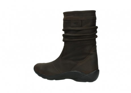 wolky mid calf boots 01678 jacky wp 50300 brown oiled leather water proof warm lining_3