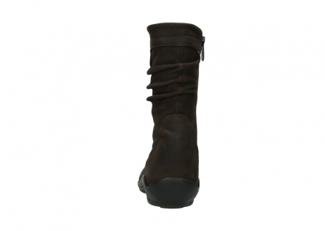 wolky mid calf boots 01678 jacky wp 50300 brown oiled leather water proof warm lining_7