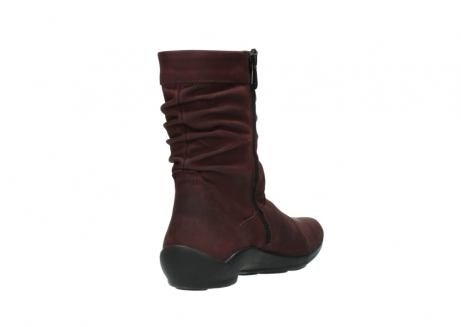 wolky mid calf boots 01678 jacky wp 50510 burgundy oiled leather water proof warm lining_10