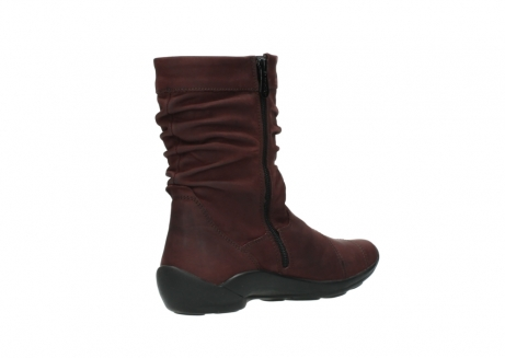 wolky mid calf boots 01678 jacky wp 50510 burgundy oiled leather water proof warm lining_11
