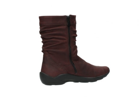 wolky mid calf boots 01678 jacky wp 50510 burgundy oiled leather water proof warm lining_12