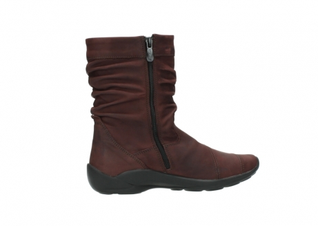wolky mid calf boots 01678 jacky wp 50510 burgundy oiled leather water proof warm lining_13