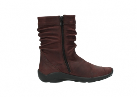 wolky mid calf boots 01678 jacky wp 50510 burgundy oiled leather water proof warm lining_14