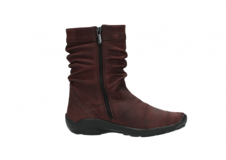 wolky mid calf boots 01678 jacky wp 50510 burgundy oiled leather water proof warm lining_15