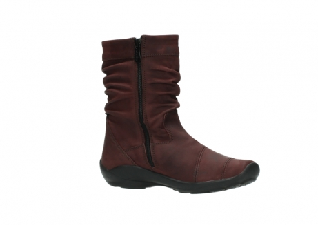 wolky mid calf boots 01678 jacky wp 50510 burgundy oiled leather water proof warm lining_16