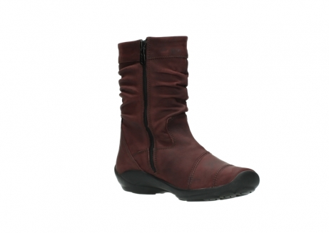wolky mid calf boots 01678 jacky wp 50510 burgundy oiled leather water proof warm lining_17