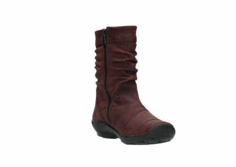 wolky mid calf boots 01678 jacky wp 50510 burgundy oiled leather water proof warm lining_18