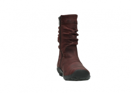wolky mid calf boots 01678 jacky wp 50510 burgundy oiled leather water proof warm lining_19