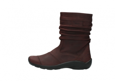 wolky mid calf boots 01678 jacky wp 50510 burgundy oiled leather water proof warm lining_2