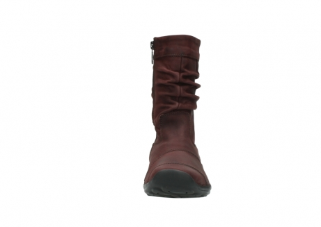 wolky mid calf boots 01678 jacky wp 50510 burgundy oiled leather water proof warm lining_20