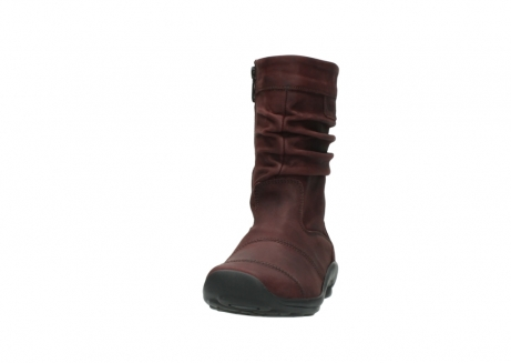 wolky mid calf boots 01678 jacky wp 50510 burgundy oiled leather water proof warm lining_21